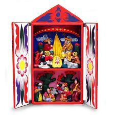 Peruvian Christmas Handmade Retablo Diorama Folk Art Novica Peru