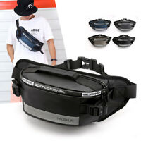 Men Nylon Belt Sling Chest Bag Hip Bum Reflective Anti-theft Waist Fanny Pack