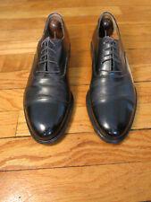 RECENT Salvatore Ferragamo Studio Men's 9 D Black Leather Cap Toe Oxfords Shoes