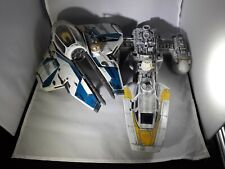 1999 Lucas Film Hasbro Star Wars Y Wing Star Fighter Ship lot Yellow Droid 2004