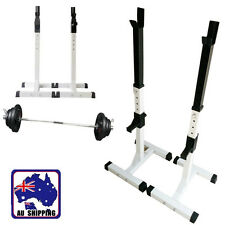 2x Squat Rack Home Gym Stand Bench Weight Lifting Barbell Fitness OYSW59300