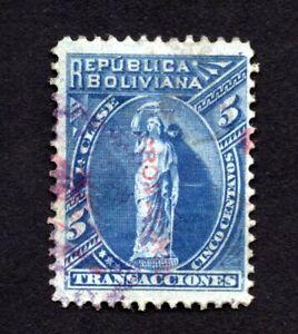 Bolivia 1893 stamp Mi#13a used CV=22€