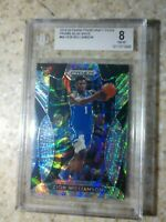 2019 ZION WILLIAMS RC PANINI BLUE WAVE PRIZM DRAFT PICKS /299 #64 BGS 8