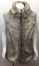 GAP Kid Girl Fur Vest Reversible Faux Hair / Nylon Brown 8 M Outerwear Winter