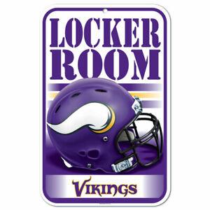 "MINNESOTA VIKINGS LOCKER ROOM PLASTIC SIGN 11""X17"" DURABLE POSTER NFL LICENSED"