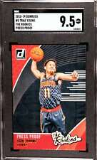 2018-19 DONRUSS THE ROOKIES PRESS PROOF TRAE YOUNG RC SGC 9.5