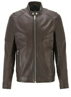 Hugo Boss Slim-Fit Sheep Leather Brown/Tan Jacket . RRP£450.EU 38 M