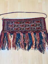 Antique Hand Made Turkoman Torba Bag Rug Size 75x30cm