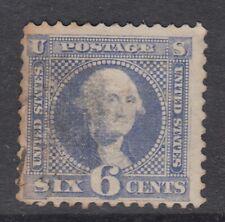 "USA Scott #115  6 cent Washingtoon ultramarine  ""G""  Grill  F  **"