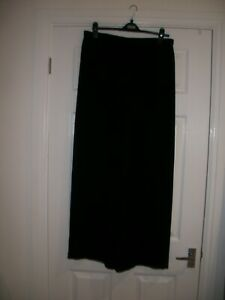 GERRY WEBER SIZE 16 BLACK EVENING TROUSERS WITH CHIFFON OVERLAYER