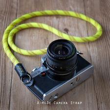 HandMade Rope Camera Strap Beal Static Rope Fuji Lieca sony Yellow120cm