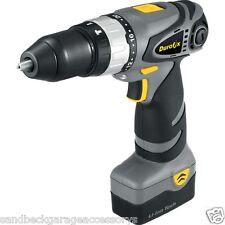 Durofix 18 Volt Cordless Hammer Drill Driver + Work Light 2 x Li-ion Batteries
