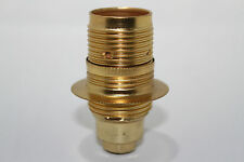 New Brass SES/ E14  Cap /Fitting Lamp Holder 10mm Screw Entry  WITH  EARTH