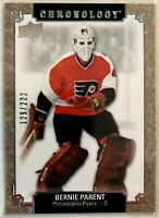 2018-19 Upper Deck Chronology #74 Bernie Parent #129/222 Philadelphia Flyers