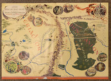 RARE Original 1971 'There and Back Again - Bilbo's Journey' Map / Poster LOTR