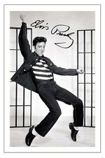 ELVIS PRESLEY SIGNED PHOTO PRINT AUTOGRAPH JAILHOUSE ROCK