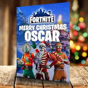 Fortnite Christmas Card - Personalised With Any Name and Age