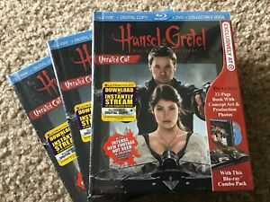 HANSEL & GRETEL Witch Hunters Unrated Blu-ray/DVD/32 pg book,Target Excl. SEALED