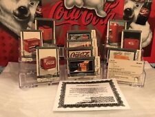 {SPECIMEN COCACOLA $5 SILVER SET} 10 Card 17th National Phonecard VIP Set