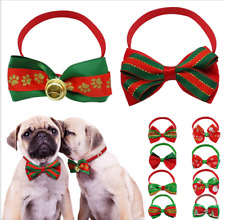 50pcs Wholesale Christmas Dog Neck Bow Ties Pet Neck Collars Jewelry Grooming