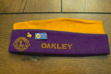 Vintage Lions Club International Kansas Oakley Felt Hat Cap Pins Builder