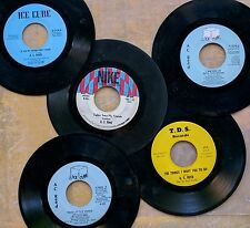 BLUES FUNK 45 LOT of 5: A.C. REED Boogaloo-Tramp,Things I Want You to Do,Fed Up