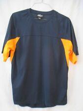 Athletech Dri Men's Navy Blue with Orange Sport Shirt - Size Large