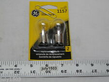 Two (2) GE 1157 Miniature Lamp Bulb 27w 8w Dual Contact 12 volt S8 Free Ship