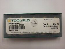 10pc) ToolFlo 16ER AG60 GP50C Laydown Coated Carbide 60° V Threading Inserts