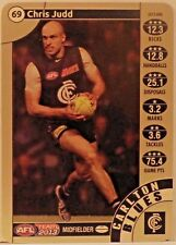 2013 CHRIS JUDD LIMITED TEAMCOACH GOLD #69 CARLTON FOOTBALL CARD