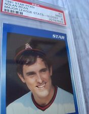 1991 Star Co. Blue Glossy Nolan Ryan Angels Major League Original Stats PSA MT 9