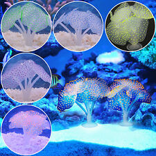 Glowing Aquarium Artificial Coral Soft Silicone Plant Fish Tank Landscape Decor