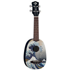 Luna Great Wave Hokusai Japanese Art Tsunami Soprano Ukulele Uke + Gig Bag