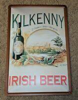 "Kilkenny Irish Beer Metal Tin Beer Sign 11 3/4"" X 7 3/4"" Alcohol RARE ADVERTISE"