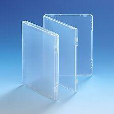 25 Ultra Clear DVD Stile Multi Custodia 14mm spina dorsale VUOTA SENZA DISC HOLDER