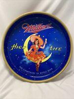 "1950's Vintage 13"" Miller High Life Beer Girl On Moon Serving Metal Tray Bar"