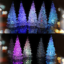 LED Lamp Light Crystal Decoration Home Party Gift Decor Mini Xmas Christmas Tree