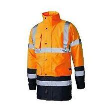 Dickies Workwear Sa7004 Hi Visibility Two Tone Parka Jacket Coat 3xl Yellow/navy Sa7004-yln3xl