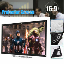 "100"" 16:9 Foldable Front&Back Rear Projection Screen Curtains Film for Projector"