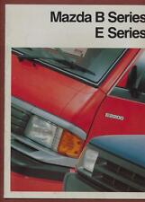 Mazda B-Series Pick-Up & E-Series Van 1990-92 UK  brochure   ra.39