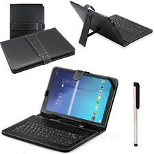 "9.6"" For Samsung Galaxy Tab E T560 9.6 Micro USB Keyboard+Black Stand Case Cover"