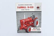 McCormick International IH Farmall B-450 farm tractor brochure mint 1959