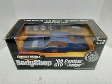 Ertl 1:18 American Muscle Body Shop 69 Pontiac GTO Judge Diecast Model NIB C3