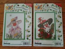 Vtg Suzy'S Zoo Friends & Flowers 2 Counted Cross Stitch Kits New Janlynn Frames