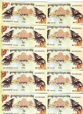 LOT, Bhutan,  10 x 5 Ngultum, 2006, P-28, UNC -> ornate