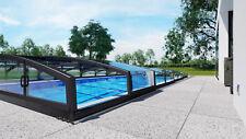 Poolüberdachung Schwimmbadüberdachung CASABLANCA INFINITY B einseitige Schiene