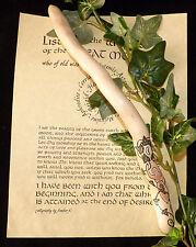 Beautiful Moon Goddess & Ivy Leaf Pentagram Ivy Wood Wand . Pagan/wiccan/Druid.