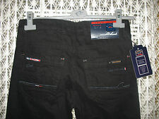 New Paul And Shark Yahting Black Jeans Top Class Flags Cotton Trousers Tag