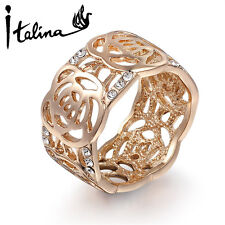 Rose Flower Ring For Woman Made With Austrian Crystal Stellux High Quality