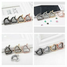 Heart Living Floating Charms Locket Glass Magnetic Memory Pendant FOR Necklace